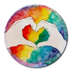 Pride Love Round Mousepads