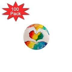 Pride Love 1  Mini Magnets (100 pack)