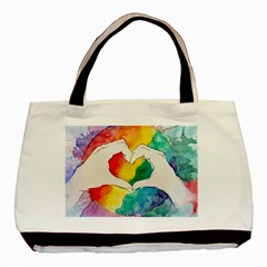 Pride Love Basic Tote Bag (Two Sides)