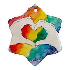 Pride Love Snowflake Ornament (Two Sides)