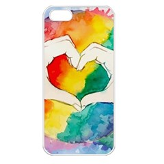 Pride Love Apple iPhone 5 Seamless Case (White)
