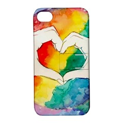 Pride Love Apple iPhone 4/4S Hardshell Case with Stand