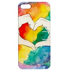 Pride Love Apple iPhone 5 Hardshell Case with Stand