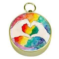 Pride Love Gold Compasses