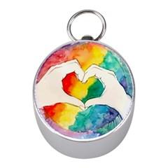 Pride Love Mini Silver Compasses