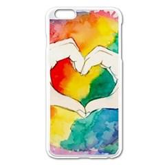 Pride Love Apple iPhone 6 Plus/6S Plus Enamel White Case