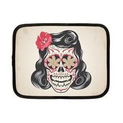 Woman Sugar Skull Netbook Case (Small)