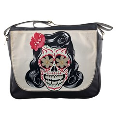Woman Sugar Skull Messenger Bags