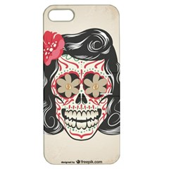 Woman Sugar Skull Apple iPhone 5 Hardshell Case with Stand