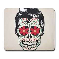 Man Sugar Skull Large Mousepads
