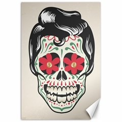 Man Sugar Skull Canvas 20  x 30