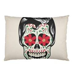 Man Sugar Skull Pillow Case