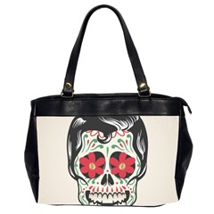 Man Sugar Skull Office Handbags (2 Sides)