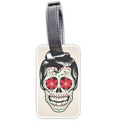Man Sugar Skull Luggage Tags (One Side)