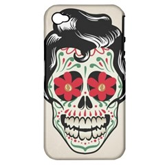 Man Sugar Skull Apple iPhone 4/4S Hardshell Case (PC+Silicone)