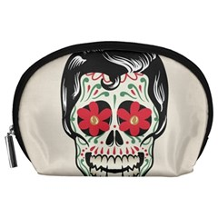 Man Sugar Skull Accessory Pouches (Large)