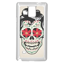 Man Sugar Skull Samsung Galaxy Note 4 Case (White)