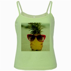 Pineapple With Sunglasses Green Spaghetti Tank