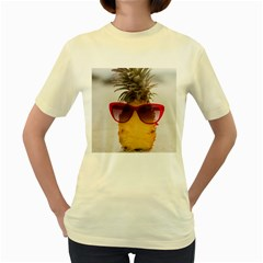 Pineapple With Sunglasses Women s Yellow T-Shirt