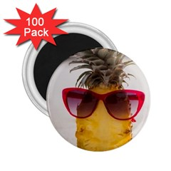 Pineapple With Sunglasses 2.25  Magnets (100 pack)