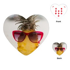 Pineapple With Sunglasses Playing Cards (Heart)