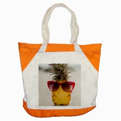 Pineapple With Sunglasses Accent Tote Bag