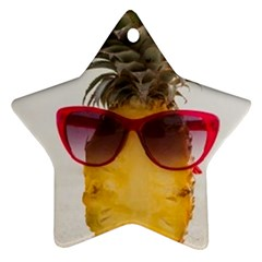 Pineapple With Sunglasses Star Ornament (Two Sides)