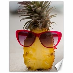 Pineapple With Sunglasses Canvas 12  x 16