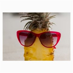 Pineapple With Sunglasses Large Glasses Cloth (2-Side)