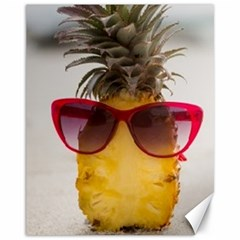 Pineapple With Sunglasses Canvas 11  x 14