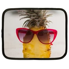 Pineapple With Sunglasses Netbook Case (Large)