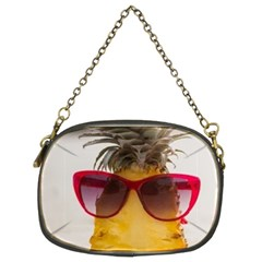 Pineapple With Sunglasses Chain Purses (Two Sides)