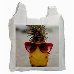 Pineapple With Sunglasses Recycle Bag (One Side)