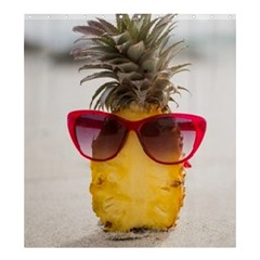 Pineapple With Sunglasses Shower Curtain 66  x 72  (Large)