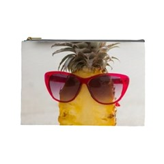 Pineapple With Sunglasses Cosmetic Bag (Large)
