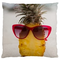 Pineapple With Sunglasses Large Cushion Case (One Side)