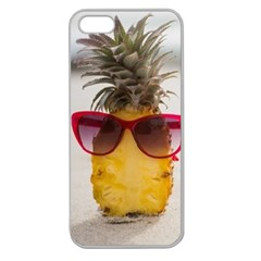 Pineapple With Sunglasses Apple Seamless iPhone 5 Case (Clear)