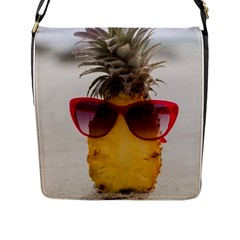 Pineapple With Sunglasses Flap Messenger Bag (L)