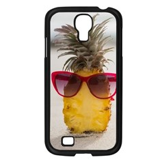 Pineapple With Sunglasses Samsung Galaxy S4 I9500/ I9505 Case (Black)
