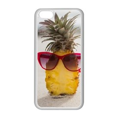 Pineapple With Sunglasses Apple iPhone 5C Seamless Case (White)