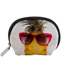 Pineapple With Sunglasses Accessory Pouches (Small)