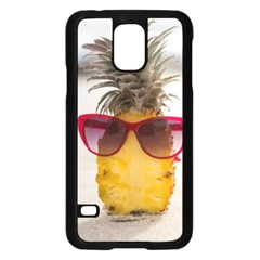 Pineapple With Sunglasses Samsung Galaxy S5 Case (Black)