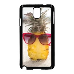 Pineapple With Sunglasses Samsung Galaxy Note 3 Neo Hardshell Case (Black)