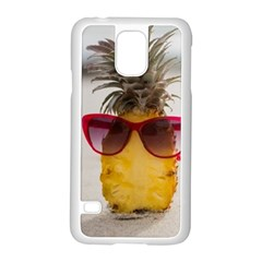 Pineapple With Sunglasses Samsung Galaxy S5 Case (White)