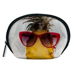 Pineapple With Sunglasses Accessory Pouches (Medium)