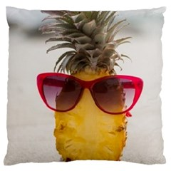 Pineapple With Sunglasses Standard Flano Cushion Case (One Side)