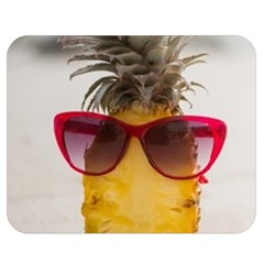 Pineapple With Sunglasses Double Sided Flano Blanket (Medium)