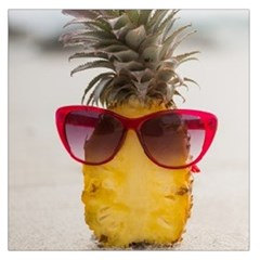 Pineapple With Sunglasses Large Satin Scarf (Square)