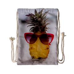 Pineapple With Sunglasses Drawstring Bag (small)