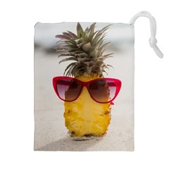 Pineapple With Sunglasses Drawstring Pouches (Extra Large)